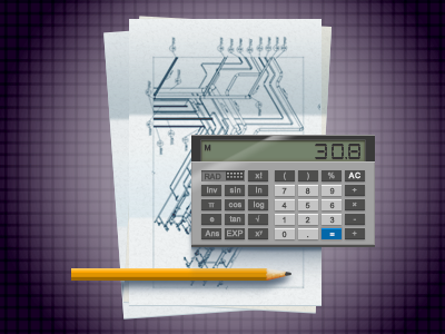 Another Engineering illustration pixelperfect calculator