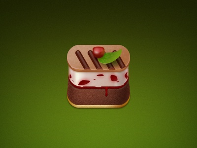 Dribbble One cake dessert icon rounded-corner-icon