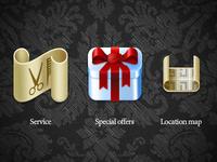 Beauty salon web icons