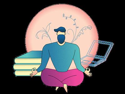 Meditate Illustration illustrator illustration art vector illustration design