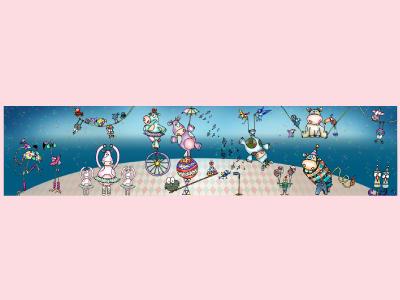 Nursery Room wall artwork character design kids illustration adobe photoshop adobe illustrator illustration