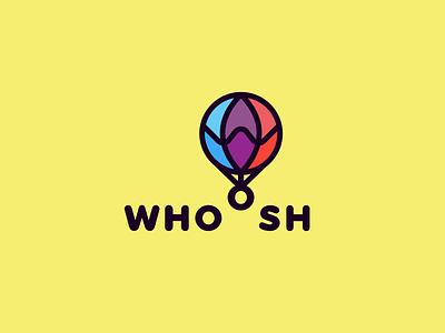 Daily Logo Challenge: Day 02 hot air balloon whoosh balloon branding design icon illustration vector minimal logo flat dailylogochallenge dailylogo