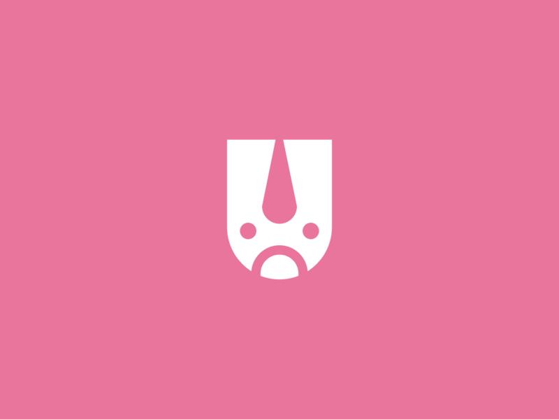 Alphabet Logo Series | U unicorn letter u lettermark animal logo letter logo flat minimal vector logo design