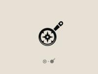 Compass + Frying Pan Logo