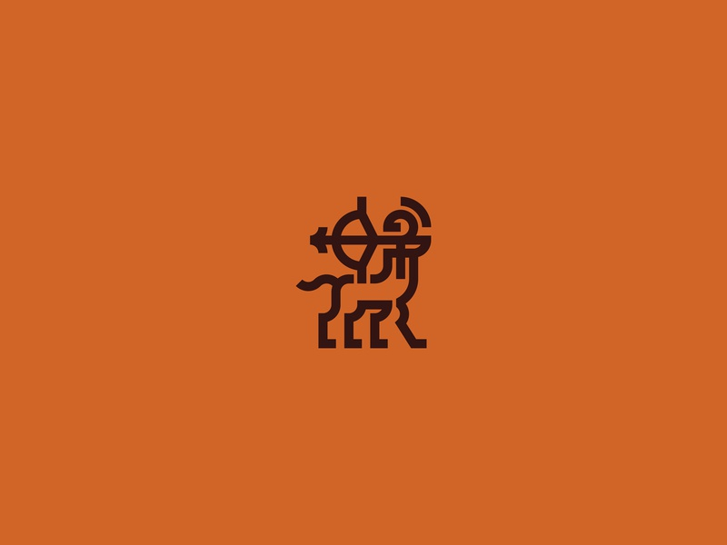 Centaur Logo mythology archer centaur geometric abstract flat minimal logo vector design