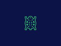 Globe + Tortoise Logo