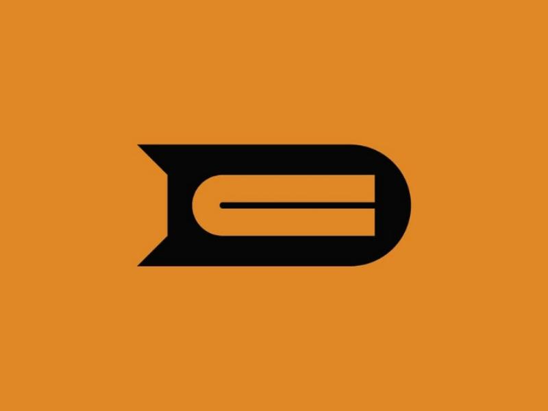 DC negative space dc minimal monogram logo vector design