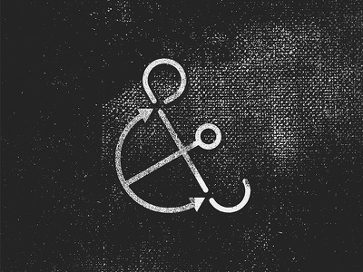 Anchorsand anchor ampersand typography lettering hand lettering handlettering type texture symbol icon