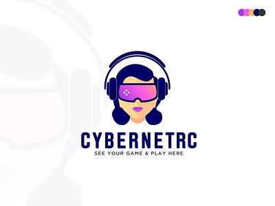 Cybernetrc Logo Design | Game VR logo zahidbrand virtualreality technology network modern logo minimalist logomark logo designer logo 2020 graphicbooss gradient vr vr logo game face creative computer branding brand identity best logo designer