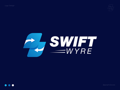 Swift Wyre Logo Design | Modern Payment Logo money transfer crypto wallet money bank funds trendy best logo zahidbrand brand identity idenity arrow fintech payment minimal best logo designer branding modern logo logo design