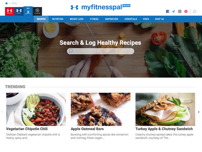 MyFitnessPal Recipes front-end development front-end website web ux design