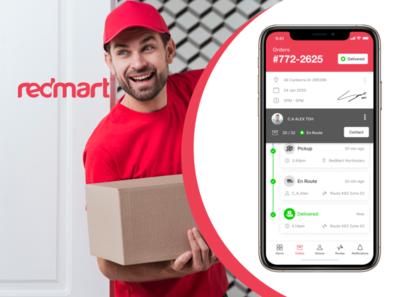RedMart Delivery Supervisor App Redesign - UX Challange ux case study ecommerce ui design design ux