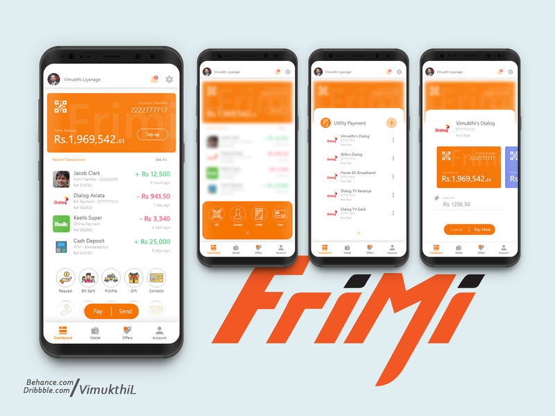Frimi Mobile Wallet App Redesign Concept by Vimukthi