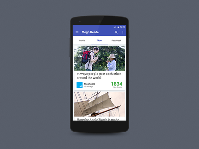 Mogo Reader Android App Material UI