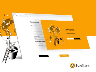 Suntrans form - UX/UI Website Design and Developing thank you page solar energy solar sun sun energy euxpro eux suntrans design ux ui form survey