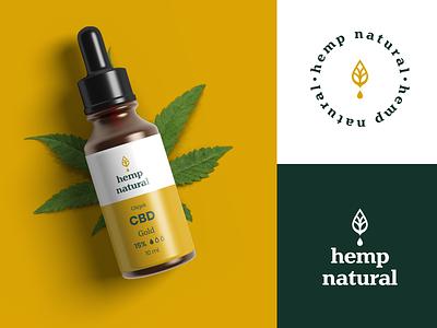 Hemp natural - CBD oil brand oil logo drop logo drop natural dropper bottle cbd packaging cbd oil logo branding cbd logo poland marihuana ganja cbg cbd hemp