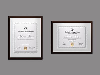 Certificate Design logo card advertising brochure illustration creative graphic design certificate template professional certificate design clean professional certificates certificate design design diploma certificate