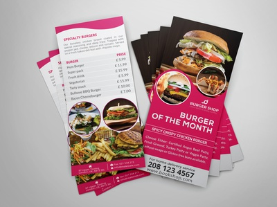 Burger Shop DL Rack Card