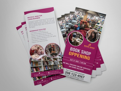 Book Shop DL Rack Card