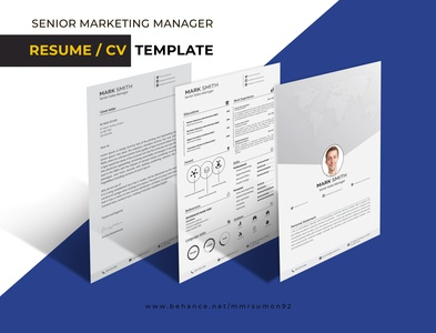 Marketing Resume / CV Template
