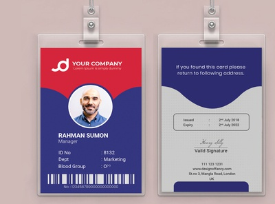 Employee ID Card or Student ID Card