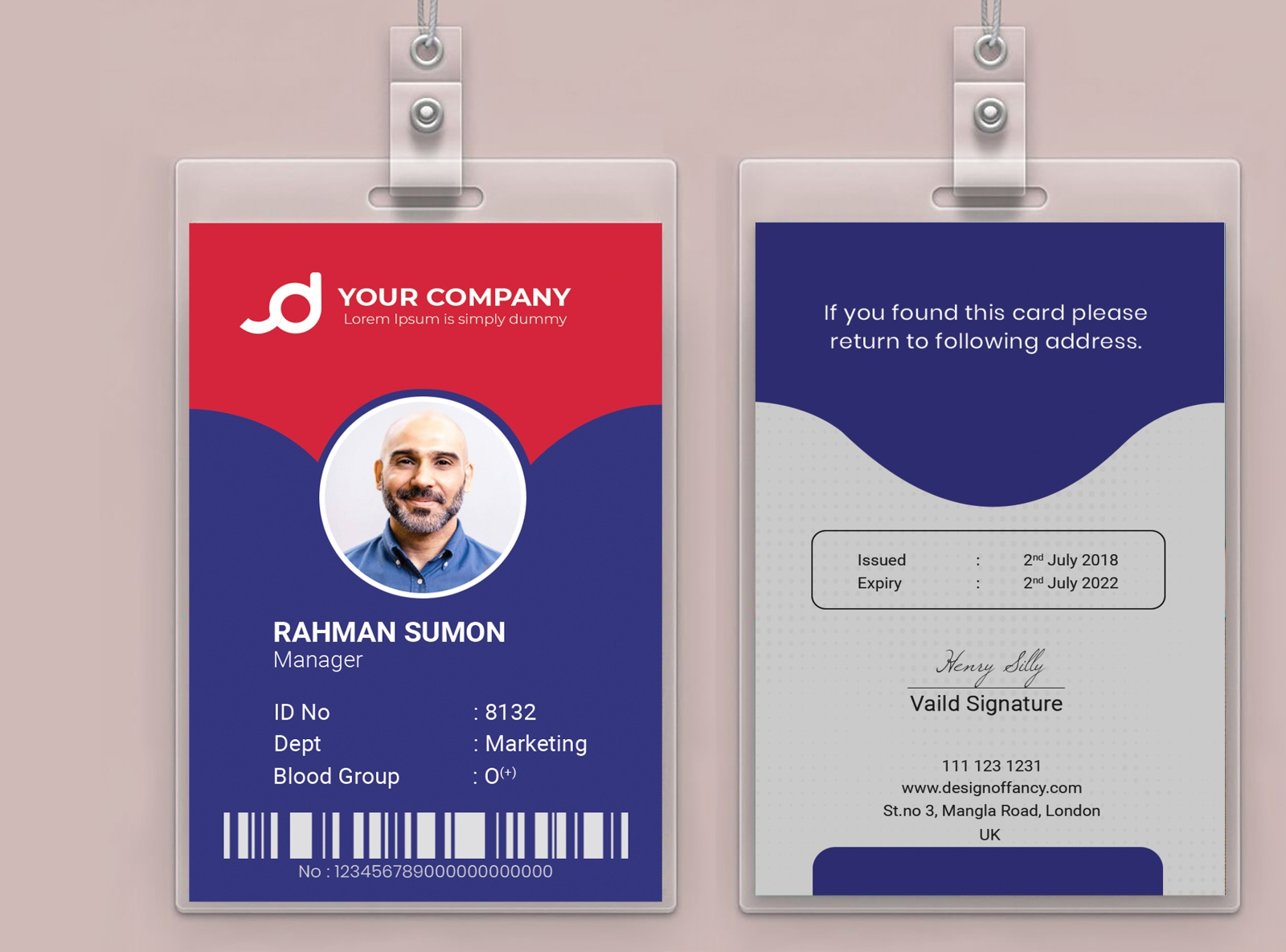 employee id card or student id card by m m rahman sumon on dribbble