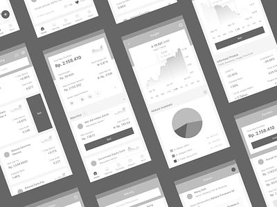 Mutual Funds App Wireframe ui ux uiux design mobile ui ux mobile app design mobile ui design mobile uiux mobile app mobile ui mobile uiuxdesign ui ux design uiux ui  ux uxdesign ux design uidesign ui design ux ui