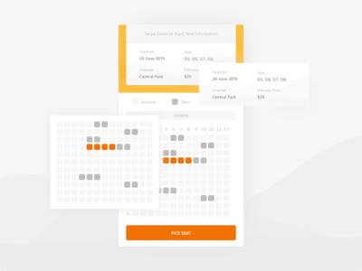 Movie ticket application - Seat Page exploration design ux ui mobile movie app movie