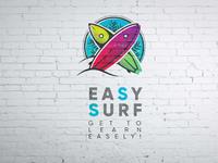 """Logo for surf school """"Easy Surf"""""""