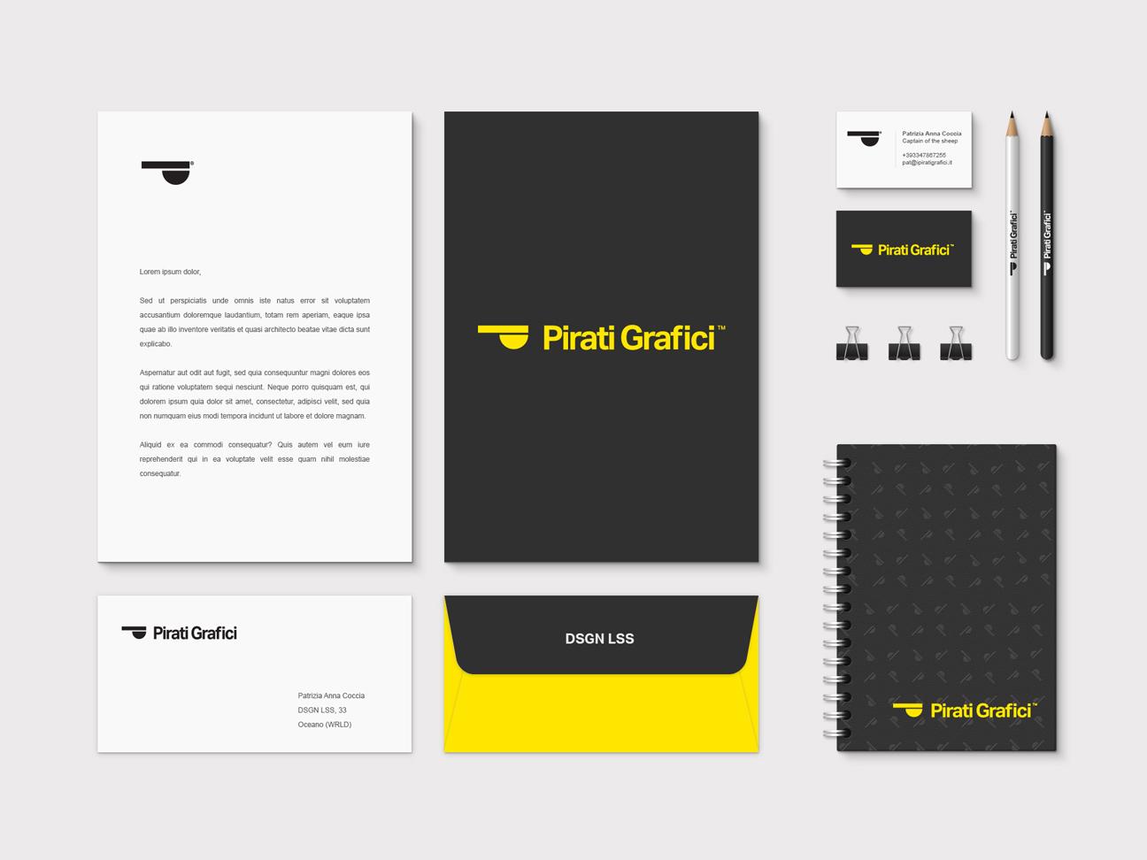 Corporate Brand Identity - Pirati Grafici brand rebranding graphic  design logo design logo design branding brand design