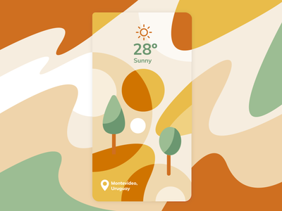 Weather App abstract illustration landscape sunny uidesign ui weather app weather