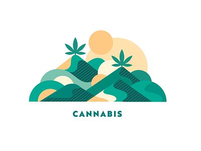 Cannabis nature marihuana marijuana flatillustration flat organic illustration cannabis