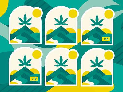 710 - Medical Cannabis illustration colors marihuana medical cannabis cannabis