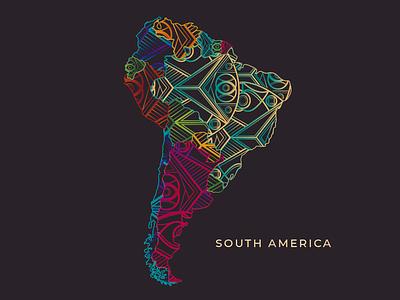 South America Map Design south america hostel map