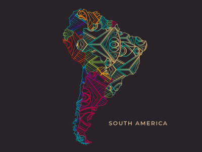 South America Map Design south america hostel map