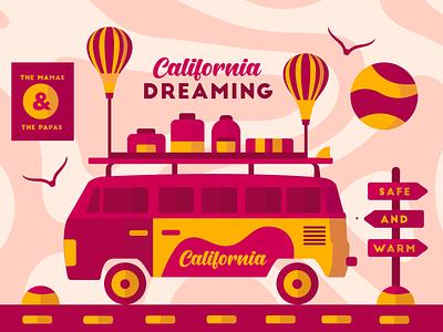 California Dreaming van california dreaming california