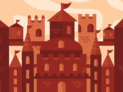 Castle illustration castle