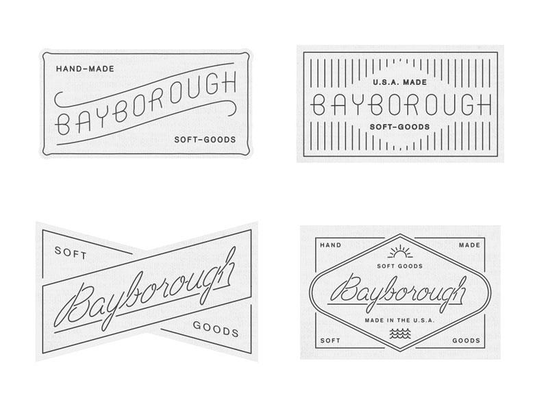 Label Roughs garment clothing label labels textiles fashion logo script type naive