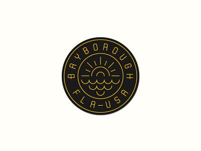 Bayborough Patch sun n fun patch embroidery badge logo sun waves florida made in usa america sporting goods sportswear