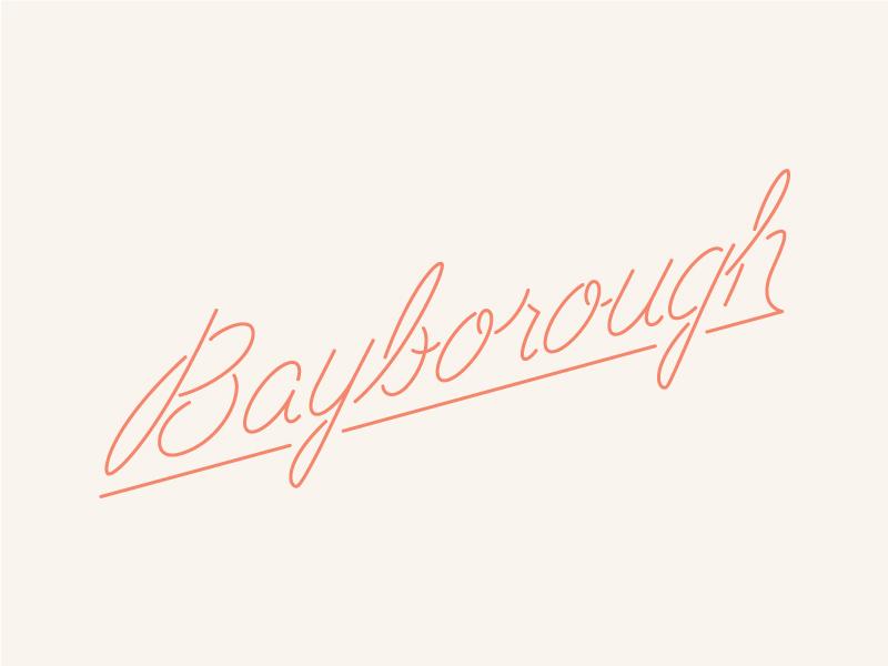 Bayborough Script script lettering logo type
