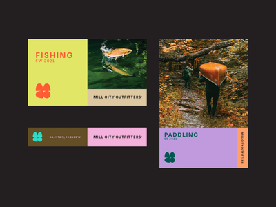 Mill City Outfitters branding logo identity fishing