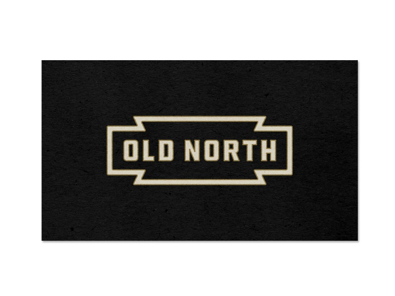 Old north clothing by anthony lane dribbble business card showing the updated logo for an asheville nc based clothing store reheart Choice Image