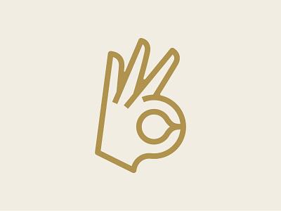 A-OK hand symbol logo