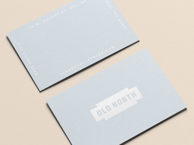 Old North Cards business cards collateral identity print