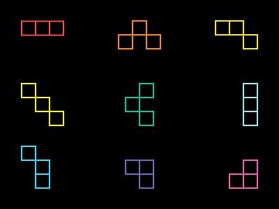Modular Symbols logo flexible identity blocks tetris