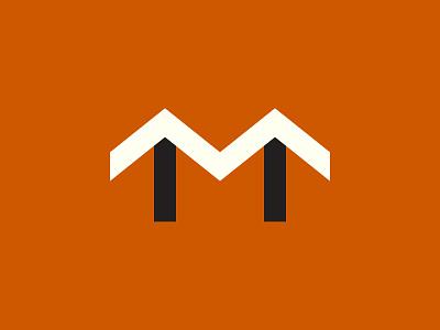'M' m building symbol logo