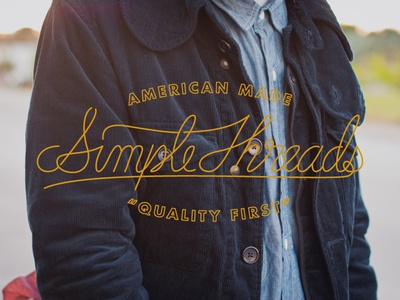 Simple Threads Script type typography hand lettered clothing logo script lettering