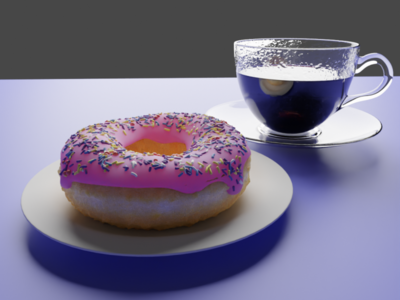 Blender Doughnut and Coffee