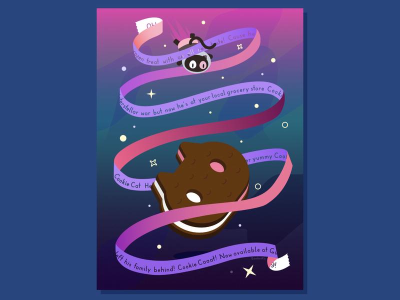 Steven Universe - Cookie Cat fan art rose quartz treat ice cream cookie cat cartoon network steven universe teepublic redbubble cartoon affinity designer illustration cute vector