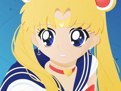 Sailor Moon Redraw 2d character usagi kawaii affinity designer vector illustration fan art anime sailormoonredraw sailor moon sailormoon